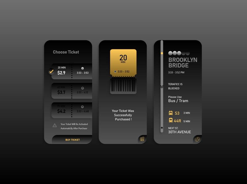 Ticketing App dark task dashboad website uiux ticket app app design taxi typography bus ticket icon vector design illustrator branding web illustration app ux