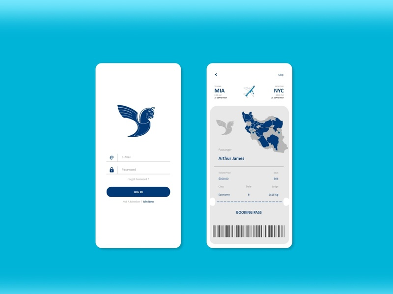 Flight Ticket Booking App airport airplane dashboard design dashboard app dashboad ticket app ticket website icon logo design illustrator branding web ui app ux illustration iran iran air