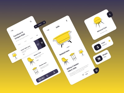 Furniture App designs website typography application app design apparel illustraion shopping furniture task dashboad vector design illustrator branding web illustration ui app ux