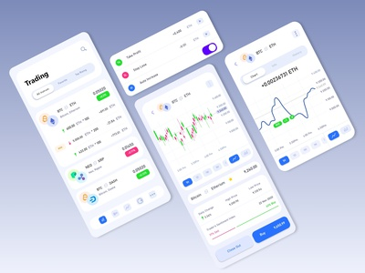 Cryptocurrency iOS app | general logo app design illustrator application trading wallet ux ui blockchain ios clean interface etherium bitcoin money finance app finance cryptocurrency crypto