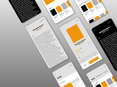 Reading Book App uidesign uxdesign ux design procreate illustraion reading book book clean minimal design branding web illustration illustrator ux ui app reading app app design reading