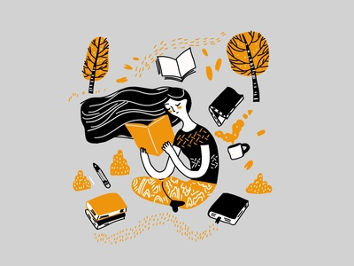 Illustration Of Reading Book App ui branding design illustration art artwork art illustrations draw drawing digital painting digitalart digital process product illustration illustraion illustrator app design reading book
