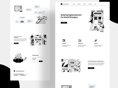 Landing Page Exploration landing landingpage clean minimal design branding web illustration app illustrator ux logo motion graphics graphic design 3d animation ui