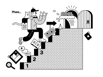 Illustration Of Landing Page Exploration animation graphic design landingpage digital minimal clean artwork web logo vector design branding illustration app illustrator ux ui