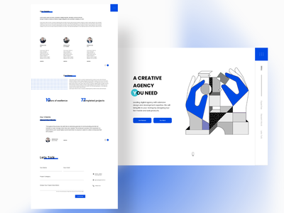 Design Studio logo design branding vector agency webdesign landingpage flat clean minimal web illustration app illustrator ux ui graphic design