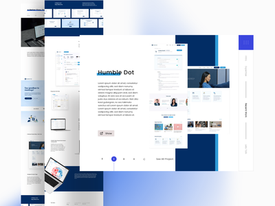 Design Studio blue bright flat clean minimal landingpage artwork logo vector design branding web illustration ui app illustrator ux