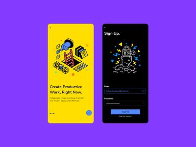 🔑 Sign up / Onboarding graphic design application ux design ui design minimal clean app design login register onboarding vector logo web design branding illustration app illustrator ux ui