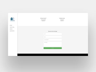LYXANE page contact wordpress development wordpress design wordpress webdesigner web design webdesign web integration illustration design