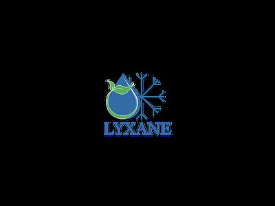 LYXANE logo branding illustration design logo