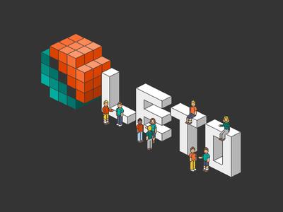 Leto isometric pixel logo