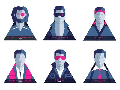 80s Film Badges