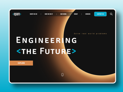 Epam Web site redesign typography epam ux minimal flat branding app web ui figma design