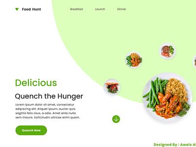 Food Web design web ui ux design ui design web deisgn