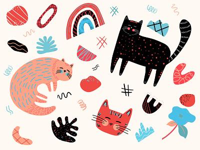 Doodles cat graphic art doodles illustration art illustrations illustrator animal cat doodle