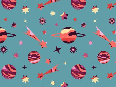 Space pattern pattern design pattern art pattern illustration stars star cosmo space design vector doodle art illustrator illustrations