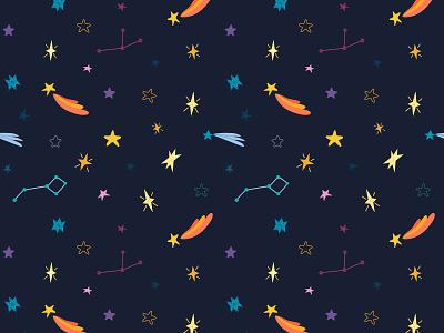 Starry sky constellations seamless vector pattern pattern vector illustration vector art space art design vector illustrator illustration illustrations stars star sky