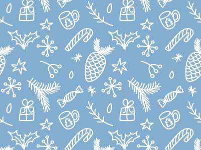 Christmas Pattern winter candy christmas tree tree new year christmas party doodle pattern design vector art illustration illustrations