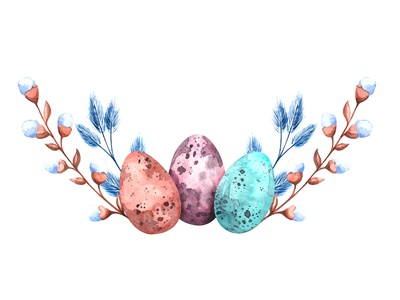 Happy Easter art drawing watercolour holidays happy holidays spring willow eggs easter egg easter branding watercolor illustrator illustration illustrations