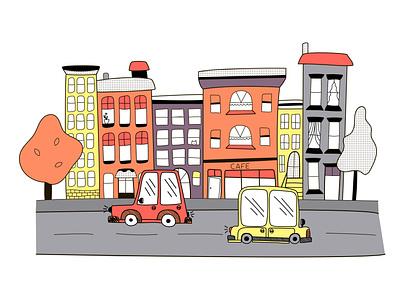 City doodles doodle art life traffic highway travel road cars building town city nature wallpaper childrens illustration doodle vector design illustrator illustration illustrations