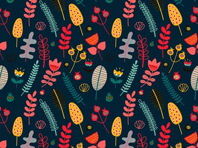 Flowers botanical illustration botany flower seamless pattern patterns pattern design scandinavian design scandinavian style scandinavian scandinavia scandi art nature childrens illustration pattern vector design illustrator illustration illustrations