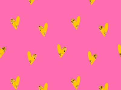 Yellow hearts emotion pink pattern design pattern art pattern lovely vector childrens illustration flat heart love art design illustration illustrations