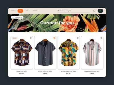Daily UI 91: Curated for You clothing shop curated curated for you dailyui 091 daily ui 091 daily 100 challenge ui dailyuichallenge daily ui dailyui