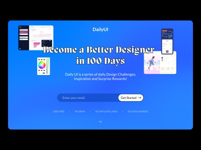 Daily UI 100: Redesign Daily UI Landing Page redesign subscribe landing landing page daily ui 100 dailyui 100 daily 100 challenge ui dailyuichallenge daily ui dailyui