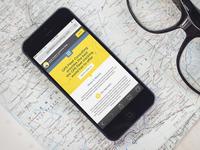 Mobile Website Mockup