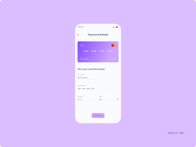 Daily UI 082 - Form payment form credit card form 082 dailyui