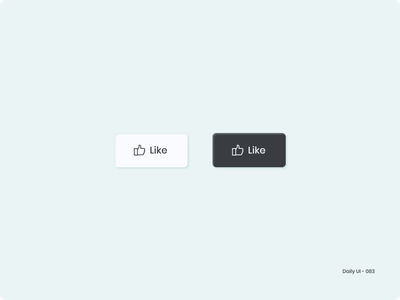 Daily UI 083 - Button like button like button design button 083 dailyui