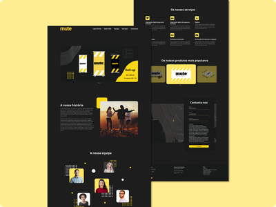 Mute - Digital Production Company digital production desktop dark mode landing page