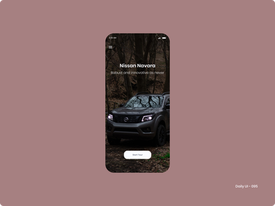 Daily UI 095 - Product Tour nissan product card product tour 095 dailyui