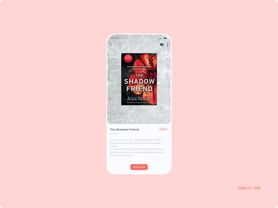 Daily UI 096 - Currently In-Stock book in stock currently in stock 096 dailyui