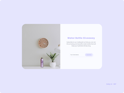 Daily UI 097 - Giveaway subscribe subscription giveaway 097 dailyui
