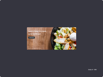 Daily UI 098 - Advertisement healthy food food 098 dailyui