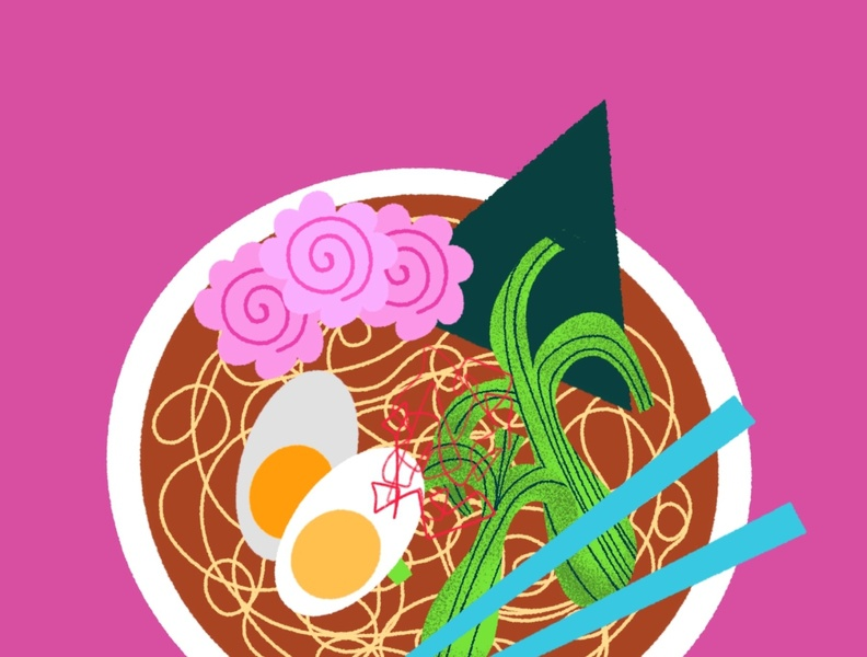 Ramen Bowl japanese culture foodie food japanese food japanese japan ramen vacation travel website illustration vector minimal limited color illustration flat icon drawing