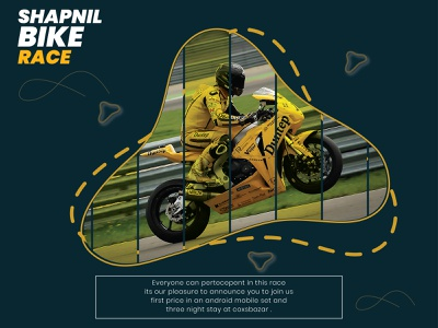 Socialmedia post of motorcycle race. Own concept . yellowmotorcycle motorcycle