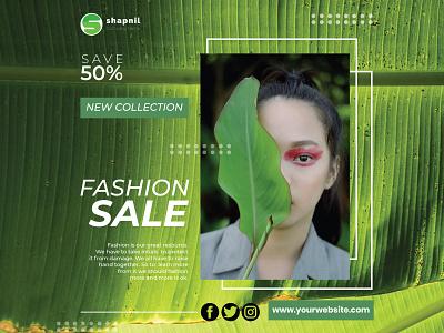 Fashion social media post design | Green Fashion Post socialmediaguru