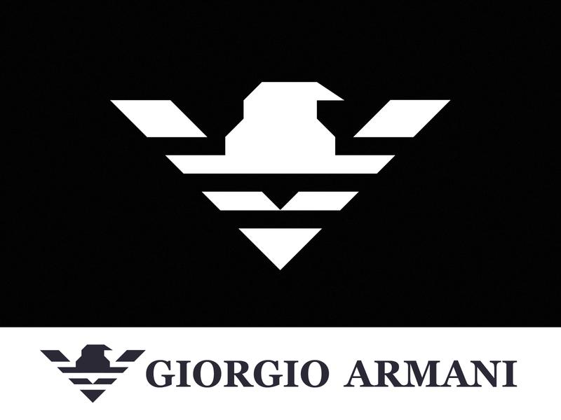GIORGIO ARMANI logo concepts logo concept logo design concept branding concept logo designer redesign brand design graphic design branding logos branding and identity identity clean logo design logo giorgio armani armani clothing brand