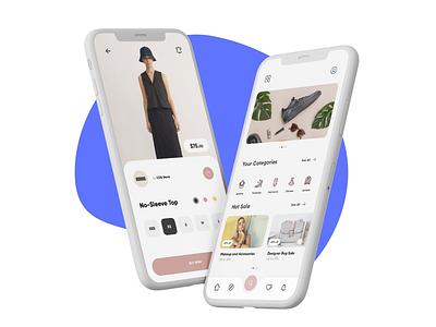 Simple E-Commerce App flat ecommerce clothes
