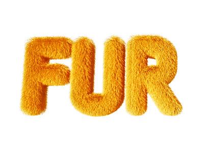 Fur yellow fur fluffy text 3d soft warm