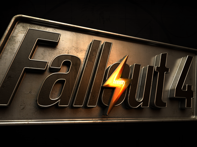 Fallout 4 Logo Animation typography logotype lightning old metal light branding illustration animation logo 3d fallout