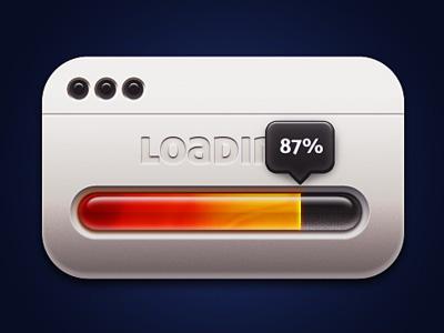 loading loader percentage ui app progress bar red yellow dark loading