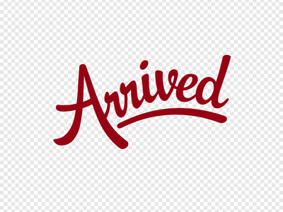 Arrived App 3D Logotype type stitches 3d typo logo logotype red carpet leather volume texture velour