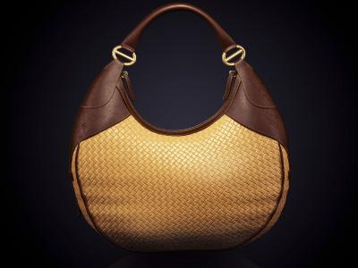 Bag 3d photo-realistic bag studio brown yellow low key
