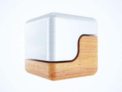 Cube Logo cube s high key test vray photo-realistic 3d studio lighting