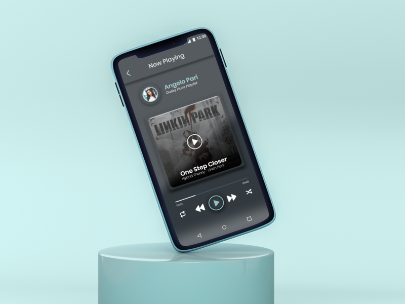 Music App Interface Design linkin park music app music player music app typography ux art design ui