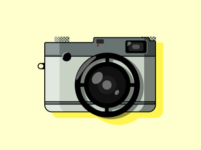 Camera Body Illustration design app minimal simple clean illustration logo graphic design