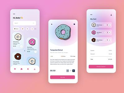 Dessert Delivery App Concept branding logo app illustration ui design clean clean ui simple minimal