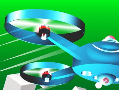 Game Icon graphic design keyshot photoshop blender3d drone